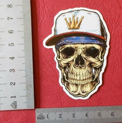 "Sticker Aufkleber /""Sport Skull/"" Glanz-Optik Stickerbomb Skateboard Laptop"