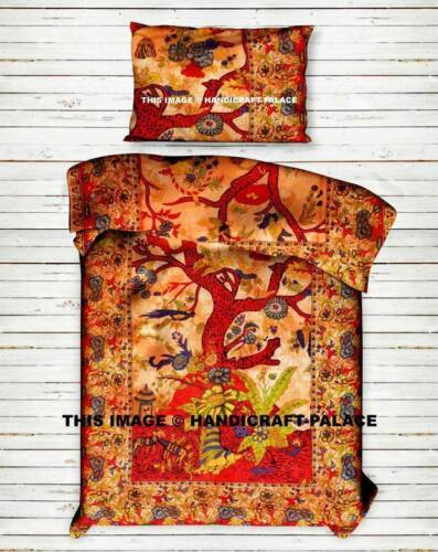 Indian Mandala Tree of Life Hippie Bohemian Cotton Comforter Duvet Donna Cover