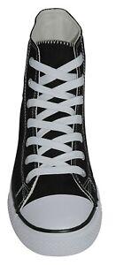Femmes/Hommes Sneaker Rockabilly Chuck 50er Chaussures De Loisirs Taille 38 à 45 Black