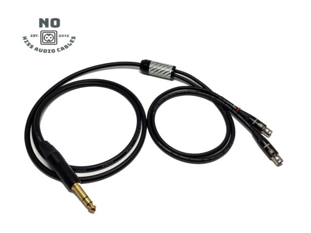 8FT AUDEZE LCD-2-3-4-X Silver Plated BALANCED Cable 4pin XLR Made USA