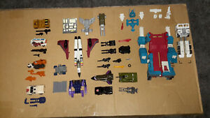 Transformers G1 Vintage Authentic lot of parts toys Magnus Ramjet Fort Maximus