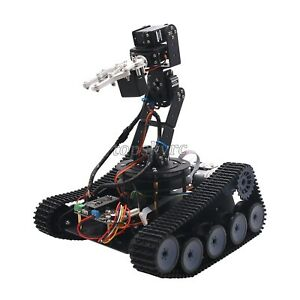 Details about Assembled Robot Tank Car Open Source 6DOF Mechanical Arm With  PS2/APP Control