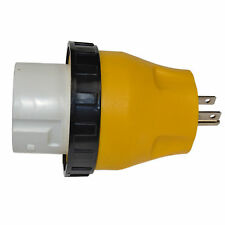 RV Electrical Locking Adapter 15A Male to 50A Female Twist Lock Plug Connector