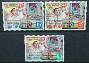 Philippines 1973 75th Anniversaire De L'indépendance Set Of 3 Fine Used Sg1310/1312-afficher Le Titre D'origine