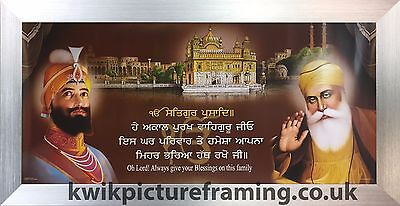 "Guru Nanak Dev Ji Original Full Length Picture  Picture Photo Framed 28/"" x 13/"""