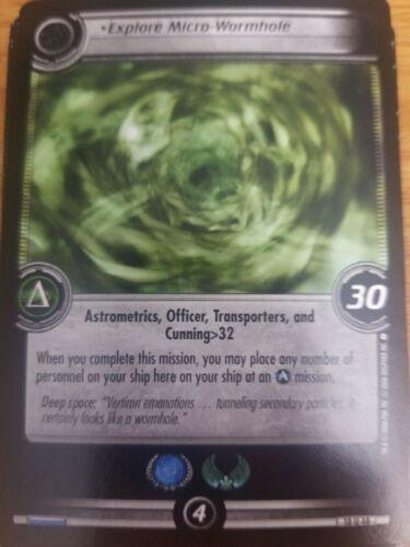 Star Trek CCG Captain/'s Log 10U48 Explore Micro-Wormhole NM-Mint