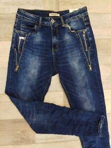 Nuovo Gr Stretch colore blu Jeans Karostar Alta 48 4x elasticizzato Increspato qqC8rSwW