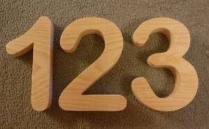 Details About Wooden House Numbers Wood Arial Rounded 5 To 7 Tallstreet Address