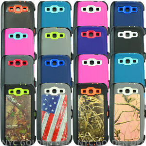 on sale 906cf 216ea Details about For Samsung Galaxy S3 Case Cover (Belt Clip Fits Otterbox  Defender Series)