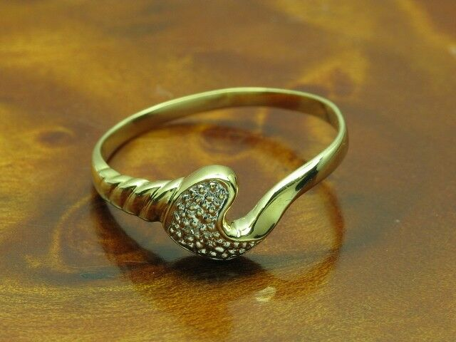 8kt 333 yellowgold Ring mit Diamant Besatz   1,5g   RG 56