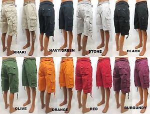 Men's BTL colors black red khaki navy olive cargo shorts with ...