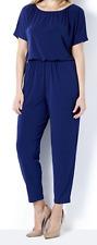 Kim & Co Brazil Knit Dolman Sleeve Jumpsuit Petite French Navy Medium New Tags