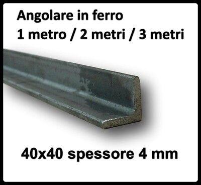 Staffe Angolari In Ferro Battuto.Angolare In Ferro Grezzo Barra Profilo Ad Angolo Angolari 40x40 Di