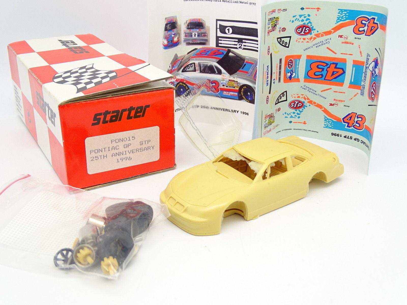 Starter Kit à Monter 1 43 - Pontiac Grand Prix STP 25th Anniversary Nascar 1996