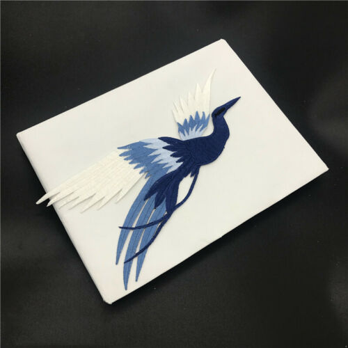 Phoenix Bird Iron on Embroidery lace Cloth Paste Fabric Applique Cloth Stickers