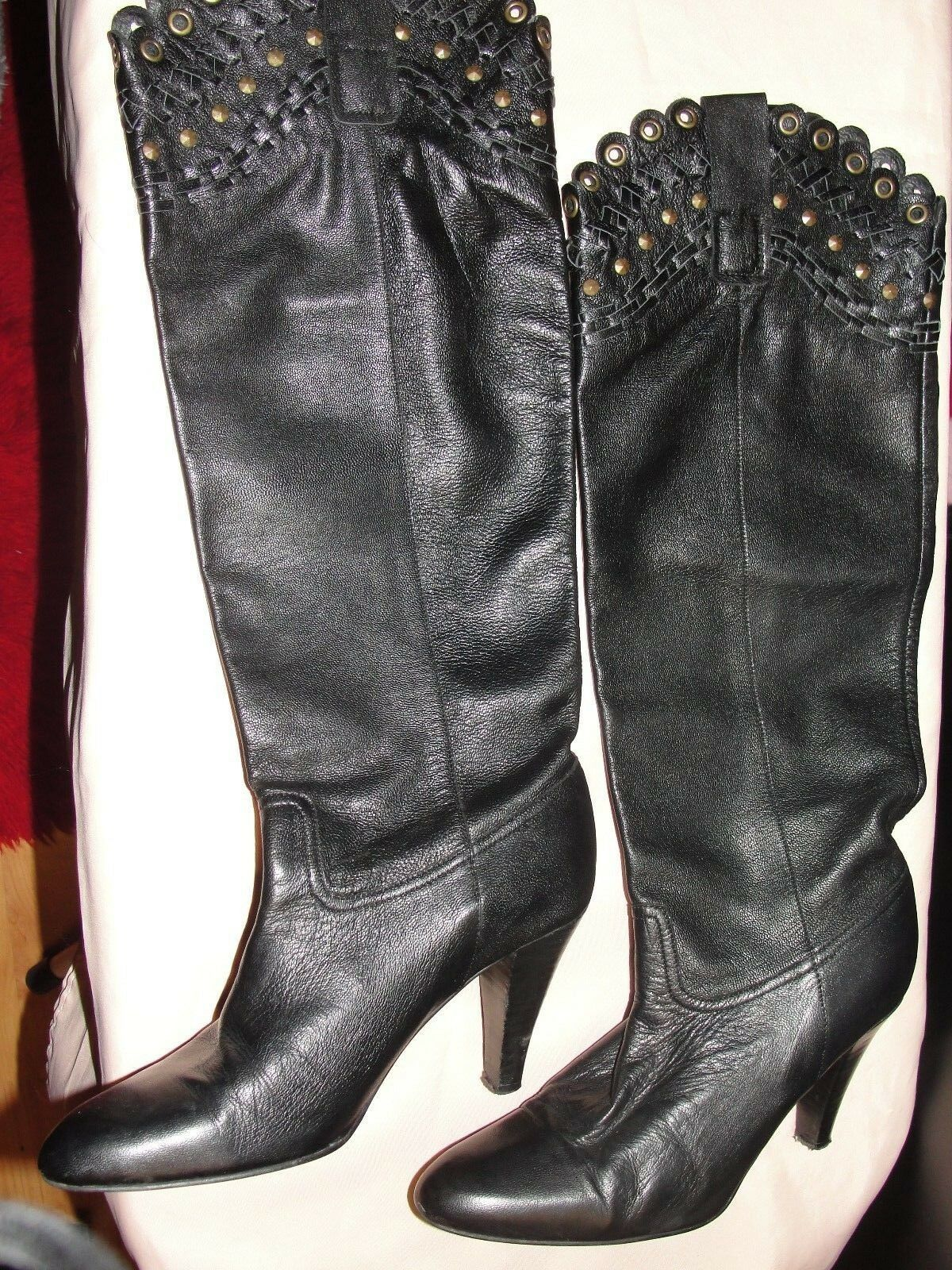 KG REAL LEATHER BOOTS -  SIZE 37, UK 4