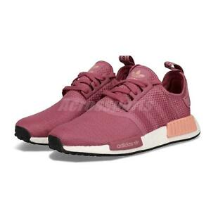 0298c619ff8ce adidas Originals NMD R1 W Maroon Pink White Womens Lifestyle Running ...
