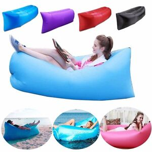 Inflatable Air Bed Lounger Couch Chair Sofa Bag For Family