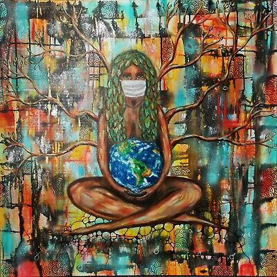 """MOTHER NATURE PICTURE CANVAS WALL ART /""""18X24/"""""""