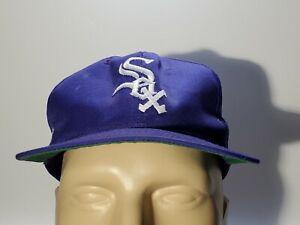 Vtg Chicago White Sox Purple SnapBack Hat Cap MLB SGA Plain Logo 90s Miller Lite