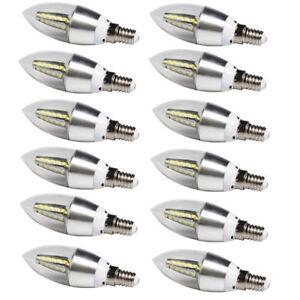 6-Stueck-kleine-Eidson-6w-Schraube-e14-SES-LED-Kerze-Leuchtmittel-Strahler-Warmweiss-Licht