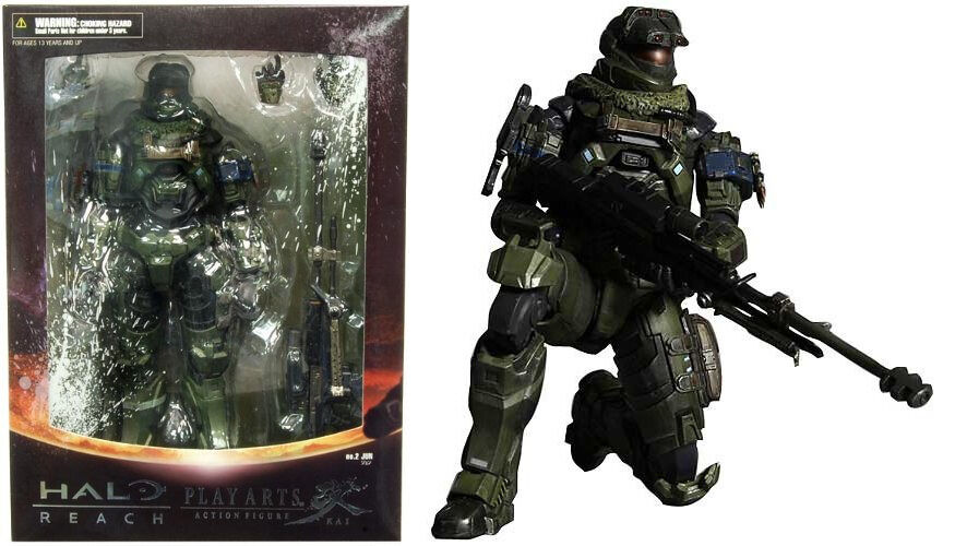 Halo Reach Square Enix Play Play Play Arts Kai Series 1 Action Figure Warrant Officer Jun 695110