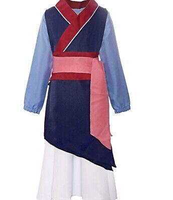 Girls Disney Mulan Princess Fancy Dress Kimono Costume Halloween Outfit 2t 3t Ebay