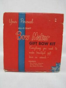 Vintage Sell O Craft Bow Maker In Box With Pins Ebay