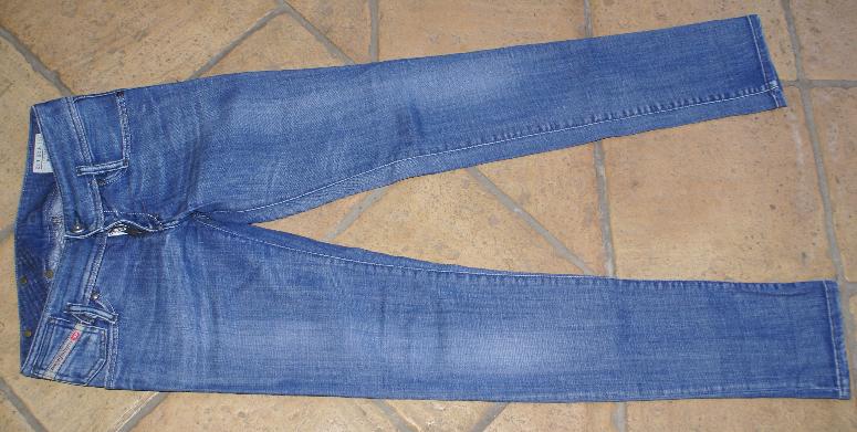 Diesel Jeans Matic Slim Fit Stretch Blau w 25 L 32 Größe 34 XS neu