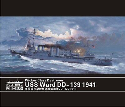 Flyhawk 1106S 1//700 USS Destroyer Ward DD-139 1941 Deluxe Edition top quality