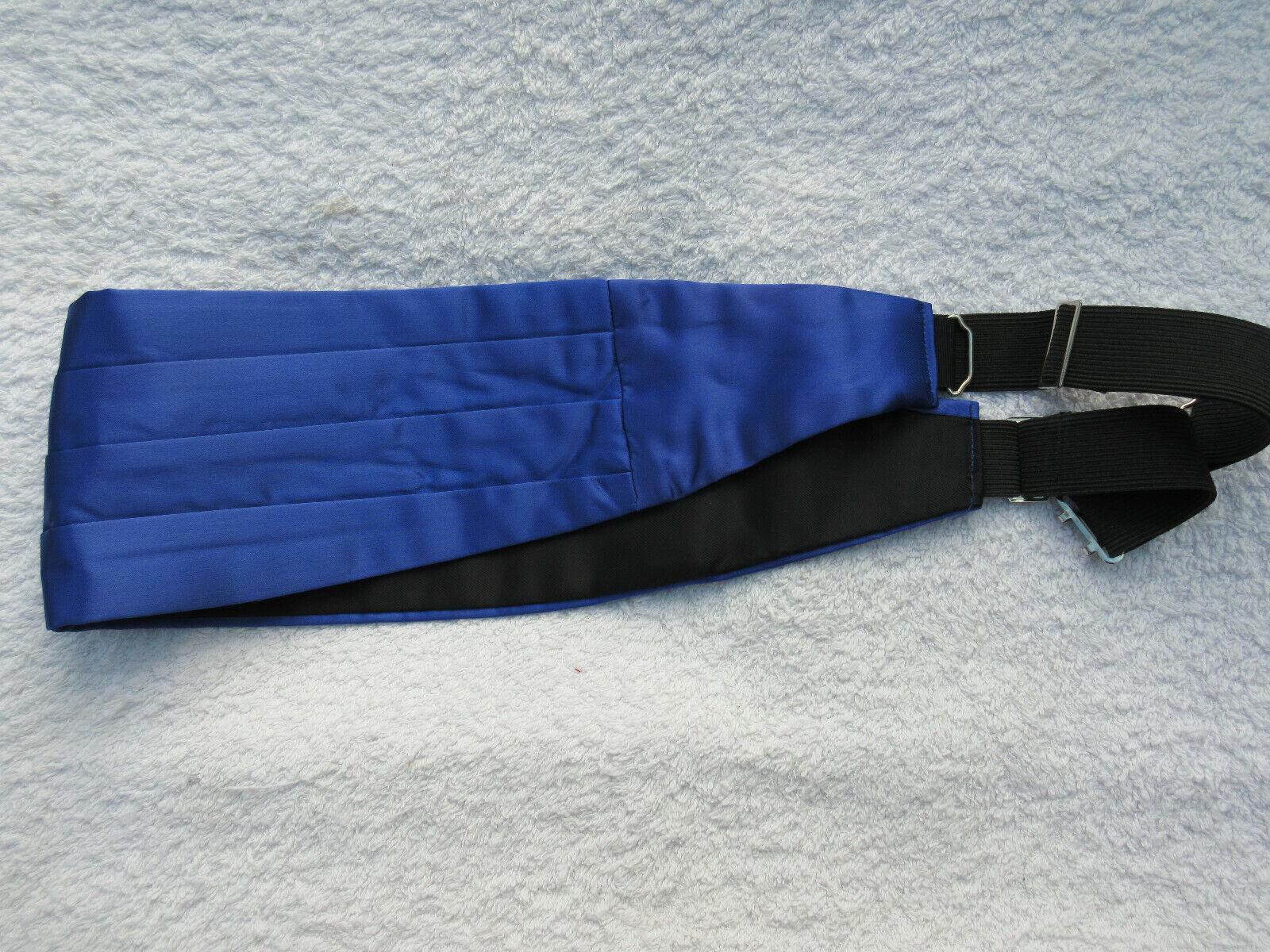CUMMERBUND Adjustable SHINEY BLUE 4 PLEAT Iin ACETATE from FREDRICK & THEAK