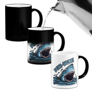 Duh-Nuh Shark Heat Colour Changing Mug