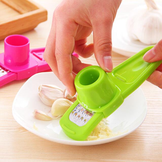 Ginger Garlic Crusher Peeler Mincer Stirrer Presser Slicer Good Kitchen Tool New