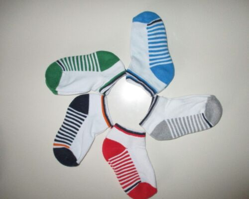 5 Pairs Boys  Trainer Liner Socks Size 12-3