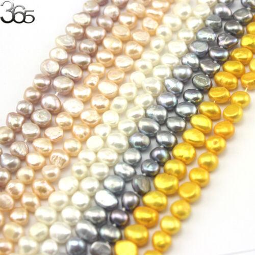 "Jewelry Making DIY 7-8mm Freeform Freshwater Pearl Beads  Strand 15/""10 Strands"