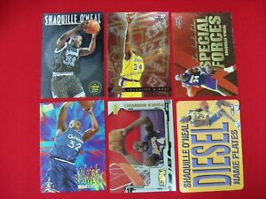SHAQUILLE-034-SHAQ-034-O-039-NEAL-6-INSERT-CARD-BKB-LOT-SPECIAL-FORCES-NAME-PLATES-L-K