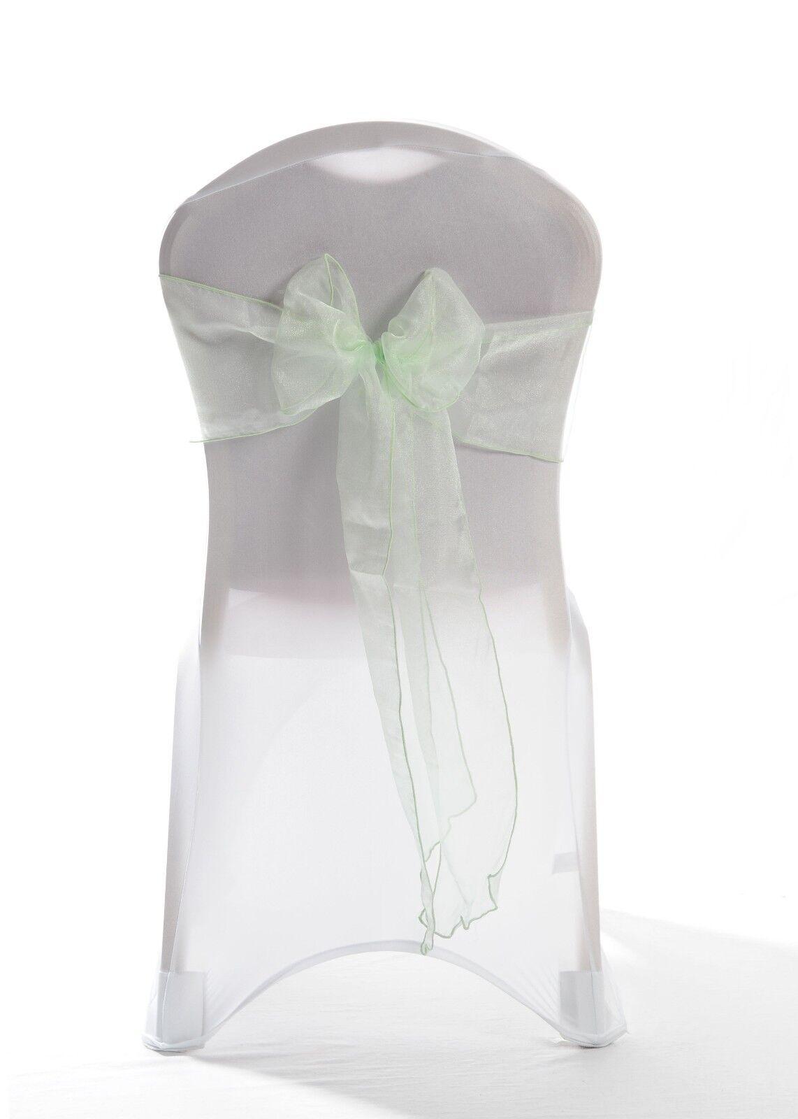 Mintgrün Organza Hochzeits Stuhl Schärpe 1,25, 50 OR 100 Schärpen | Große Auswahl  | Schön und charmant  | Verschiedene aktuelle Designs