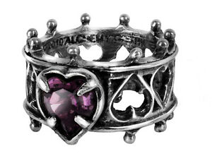 GENUINE-Alchemy-Gothic-Ring-Elizabethan-Ladies-Heart-Jewellery