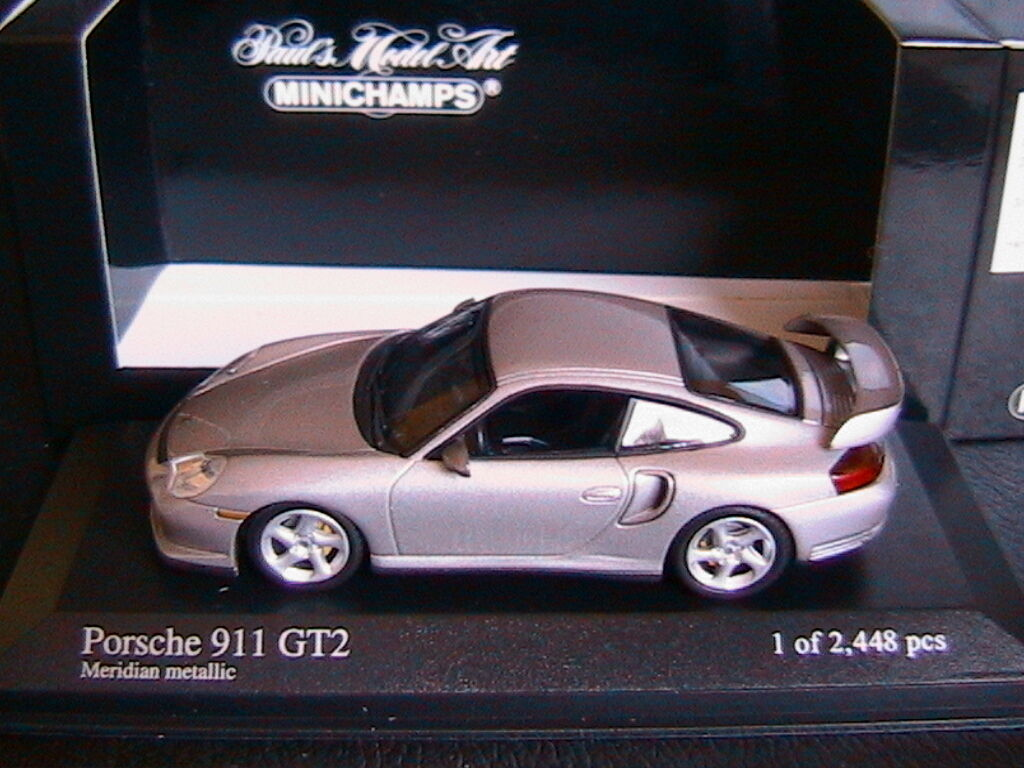 PORSCHE 911 GT2 2001 MERIDIAN METALLIC MINICHAMPS 430060125 1 43 gris METAL