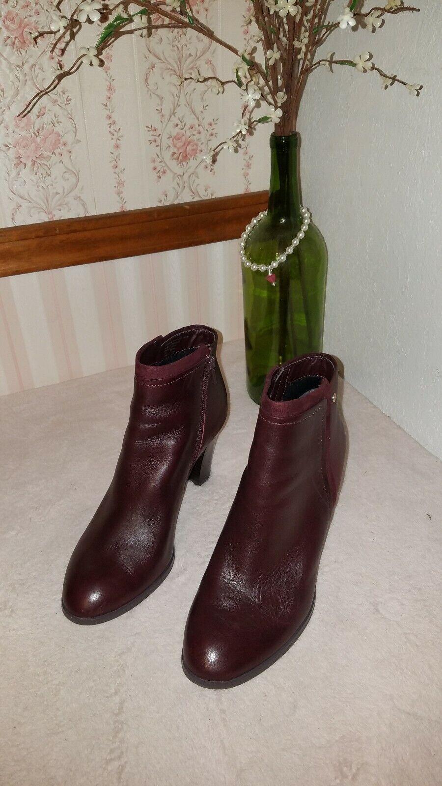 Giani Bernini  Bellee Memory Foam Ankle Booties oxblood size 10 M  129