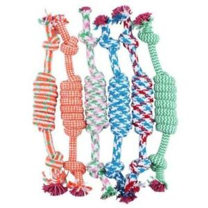 NEW-Lovely-Puppy-Dog-Pet-Chew-Toy-Cotton-Braided-Bone-Rope-Color-Chew-Knot-F6H7