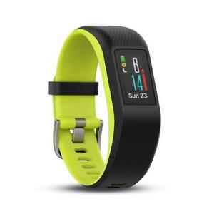 Smartwatch Fitness Tracker GPS Multisport Gr. L Garmin vívospor schwarz grün