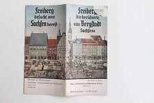 20211 Reise Prospekt Freiberg besucht wer Sachsen bereist 1937 mit vielen Fotos