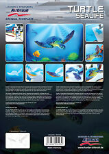 HARDER & STEENBECK AIRBRUSH STENCILS - TURTLE SEALIFE
