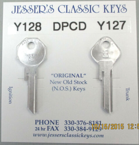 DPCD Y128 Y127 CHRYSLER NOS Aluminum Keys 1938 1939 1940 1941 1942