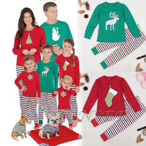 ff4952cc6 Christmas Kid Baby Adult Family Pajamas Set Sleepwear Nightwear ...