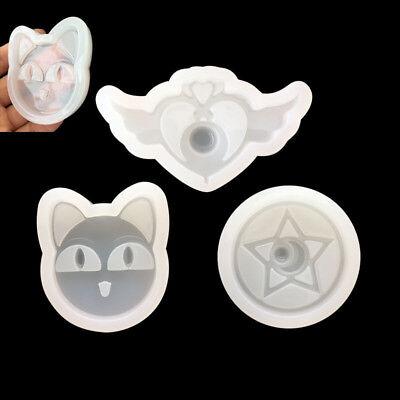 3pcs//Set Sailor Moon Card Captor Sakura DIY Magic Wand Silicone Mold New
