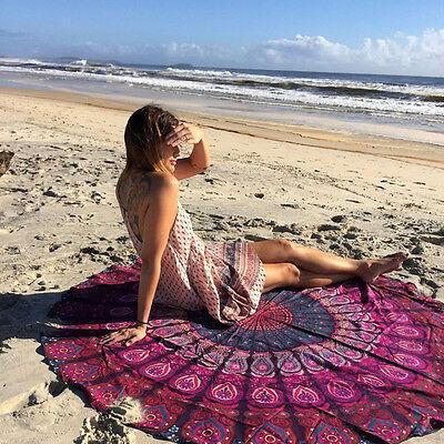 Round Beach Cover Up Pareo Bikini Boho Hippie Summer Bathing Suit Dress Swimwear