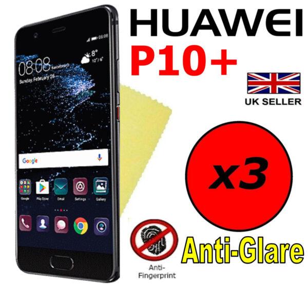 100% Vrai 3x Hq Matte Anti Reflet Protecteur D'écran Housse Saver Film Protecteur Huawei P10+ Plus CaractèRe Aromatique Et GoûT AgréAble