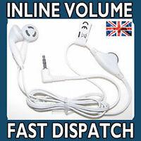 Earphones Headphones For SONY PSP & DS Lite Inline Volume Control WHITE (NEW)
